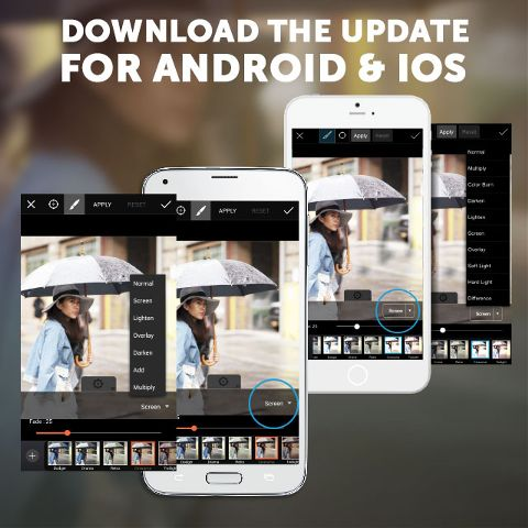 Photo editor android and iOS update