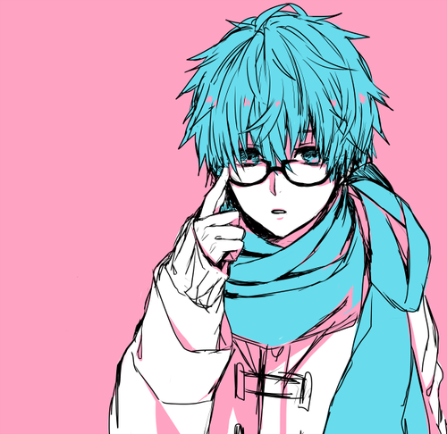 Anime Boy Pink Hair: Anime Boy Pink Blue Cute Colors