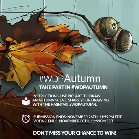 contest drawing autumn fall