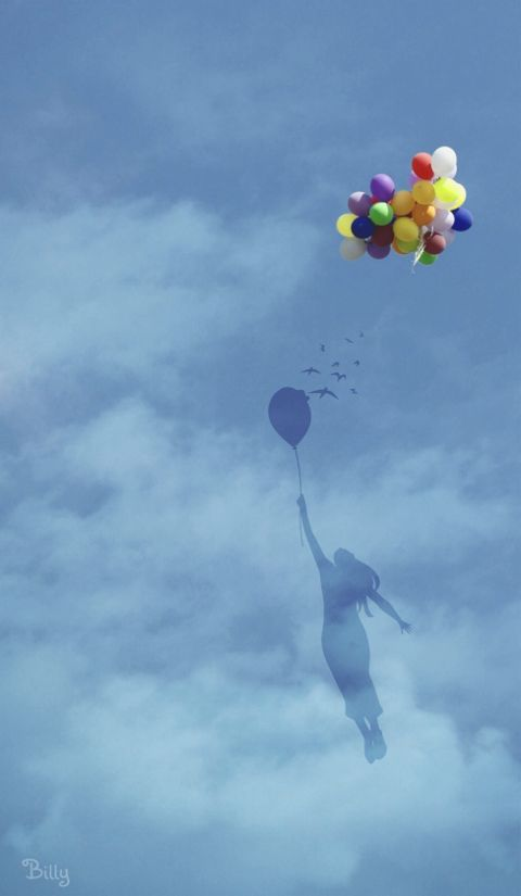 quotes sky dreamy emotion balloon