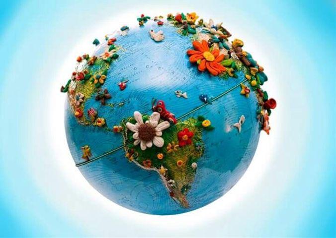 Сделать планету земля из пластилина своими руками