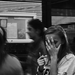 monochrome mood portrait fall hide
