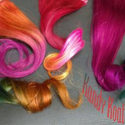 colorful colorsplash hair color people