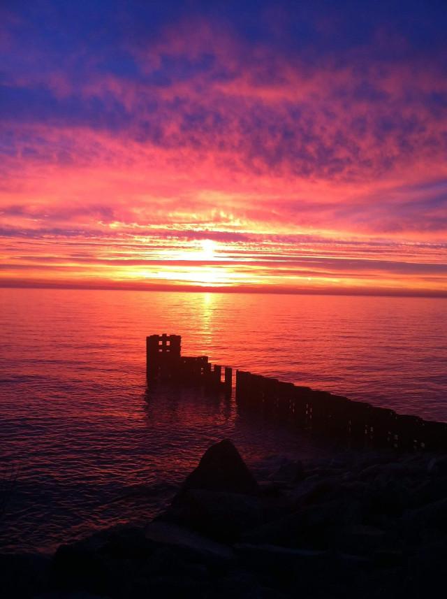 Sunrise #nature #water #orange