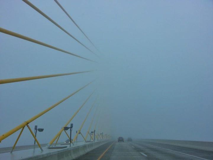 #bridge #fog #stpetersburg #tampa