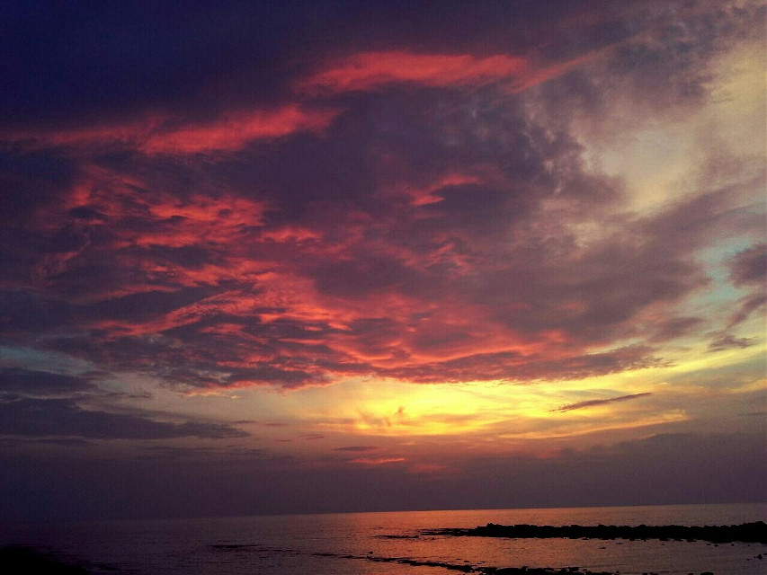 #clouds  #sunset #nature #photography #beach #panorama