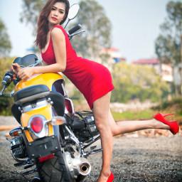 people girl moto motogirl skirt