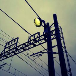 写真撮ってる人と繋がりたい すまほ写真ら部 線路沿い 電線 電柱
