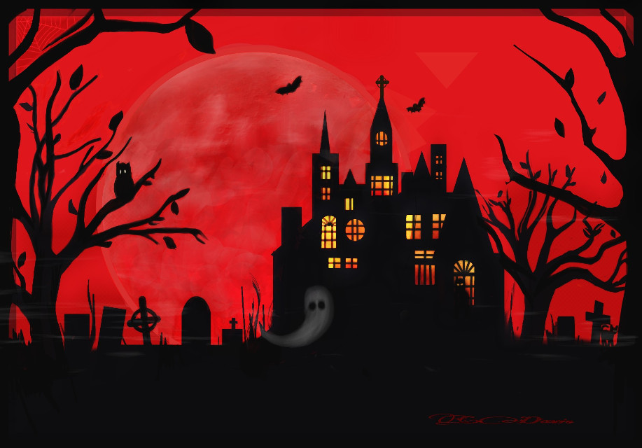 #dcspooky #halloween  I love doing silhouettes! (It's a bit easier,too🌙) HAPPY HALLOWEEN!!