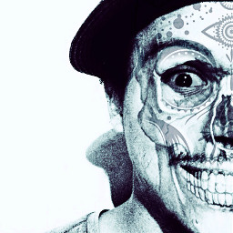 dayofthedead selfie edited addphoto pngedit