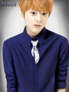 drawing xiumin exo portrait art