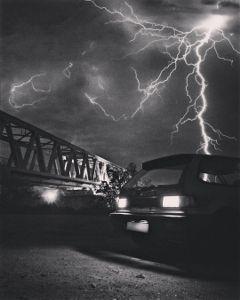 honda hondalove blackandwhite flashlights thunder