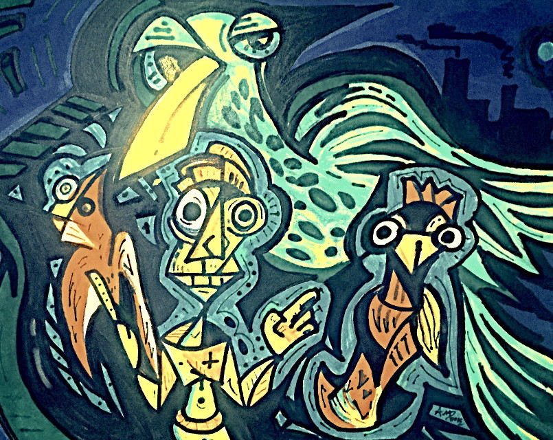 Birds set Free : Art by Aaron D  #art #crazy #interesting #fun #abstract