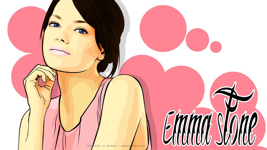 She is Emma Stone on vexel Vector | 2015   #instadesign #artis #photoshop #colorfull #vexel #vector #vectomurah #coreldraw #vectorwajah #instadesign  #singer #summer #paint #drawing #photography #colorsplash #colorful #cute