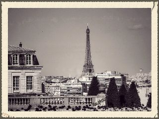 france paris blackandwhite retro city