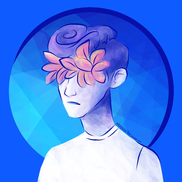 💙BLUE NEIGHBOURHOOD💙   TROYE'S NEW ALBUM IS SO GOOD  no no this is not supposed to be realistically proportioned because when I started the drawing I didn't have a reference so I drew it off the top of my head and threw in the flowers because I didn't know what his eyes look like either