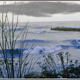 lakemichigan boatdock pooringdownrain naturephotography naturesbeauty