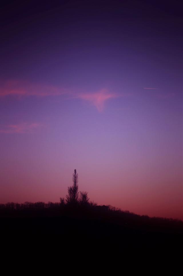 Twilight Highlight #pretty #purple #sunset #travel  #missouri #photography  #artistic