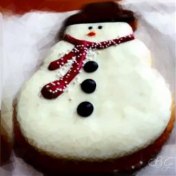festive happyholidays starbucks snowman cookie