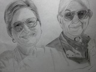 drawing portrait family art love