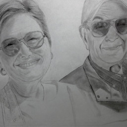 drawing portrait family art love