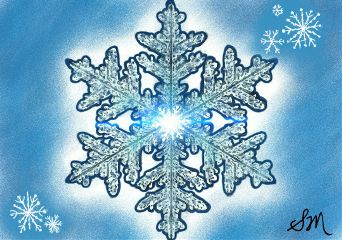 wdpsnowflake drawing ice snow blue