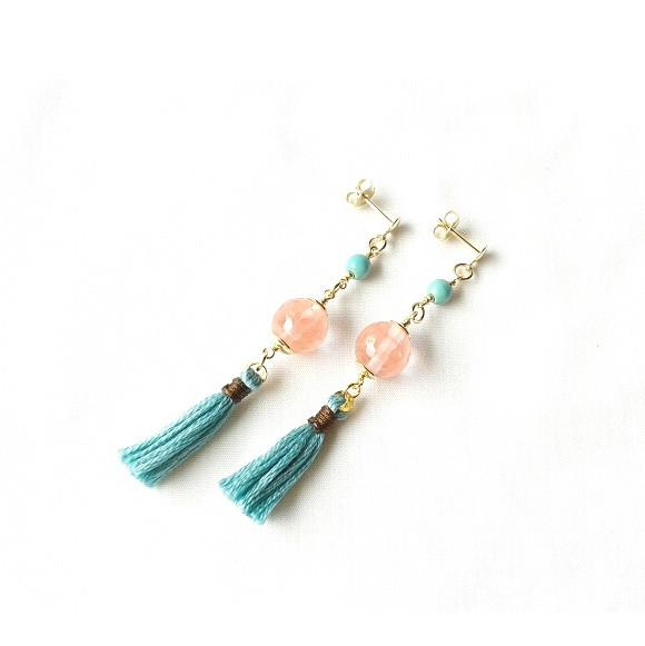 #earrings #stones #tassels #goldfilled