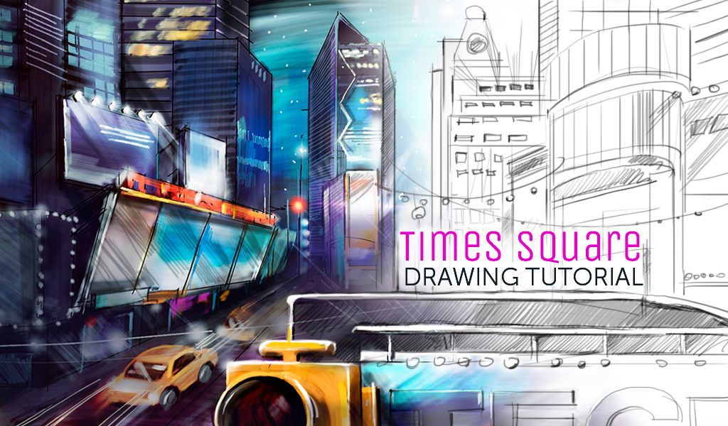 how to draw times square