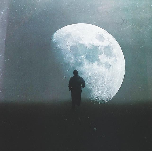 Hey moon, here I am.   #madewithpicsart
