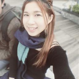 winter photography selfie girl