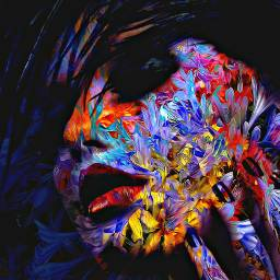 colorful face artistic abstratc art