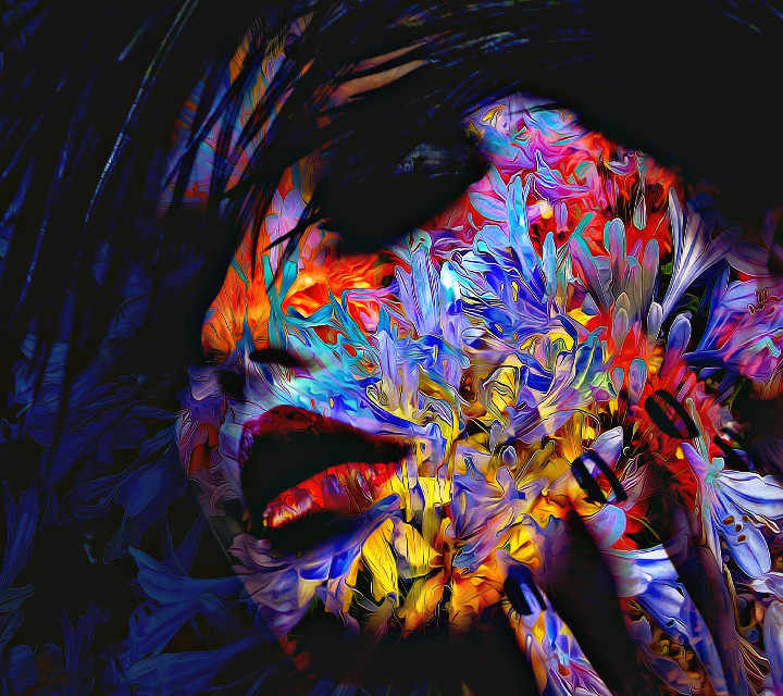 my edit #colorful #face #artistic #abstratc #art
