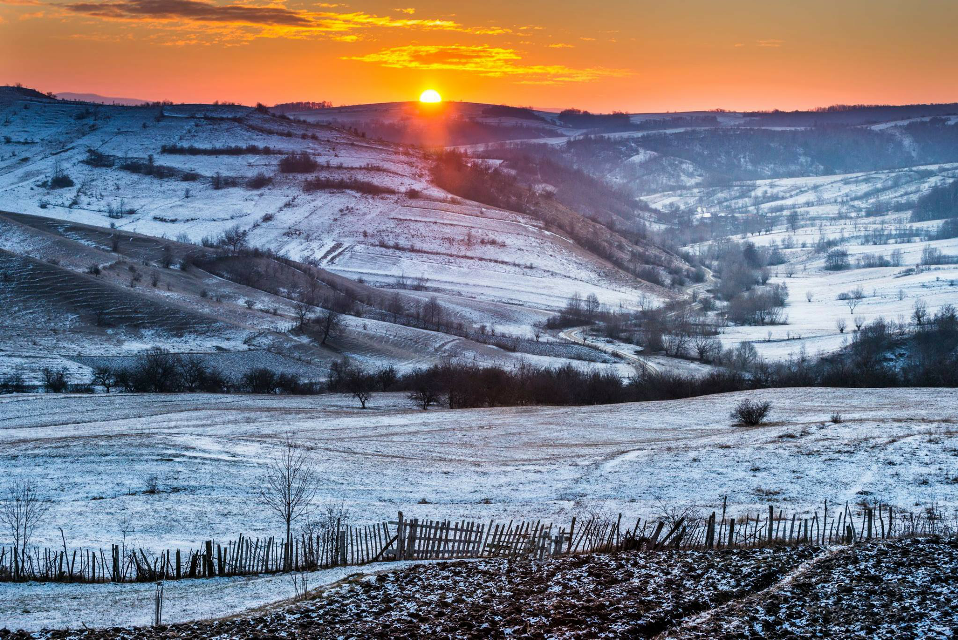 #Serenity #sunrise #risen #nature  #emotions #winter  #landscape #sun #clouds #naturelover