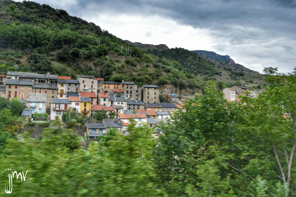 View from the yellow train  Pyrénées mountains   #travel #photography #hdr #colorful  #train