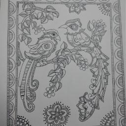 drawing madhubani painting my art