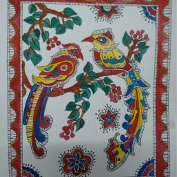 madhubani painting bihar colorful beautiful