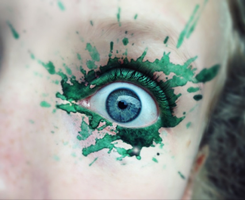 #wdpsplash #green #freetoedit  #eye #watercolor #watercolour #blue #eyes #splash #colorsplash   The green of nature is in every human, let it out🍃