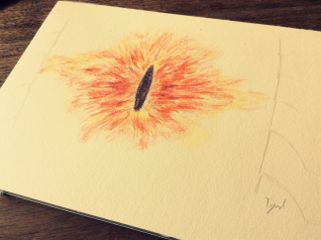 aquarell sauron eye