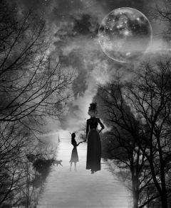 fairytale sky moon surreal fantasy