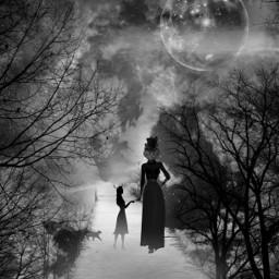 fairytale sky moon surreal fantasy freetoedit