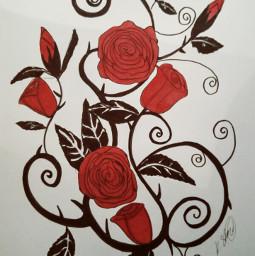 artwork drawing pensketch rose