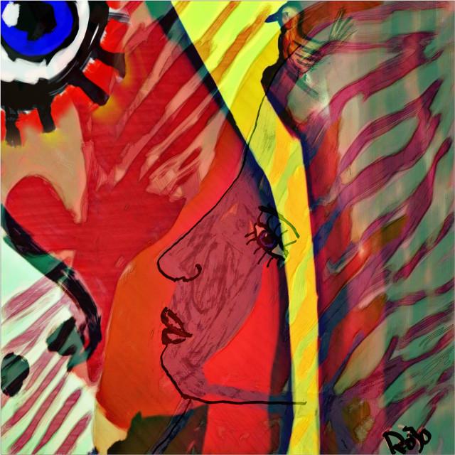Ängeln I rummet / eva Dahlgren Edit of my drawing