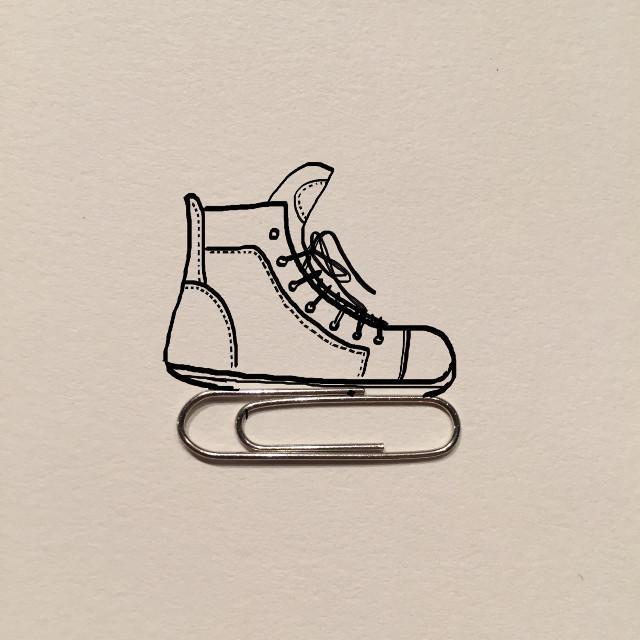 Clip Skate… #art #creative #imagination #draw #clip #iceskate