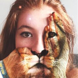 autoportrait lion inspiration