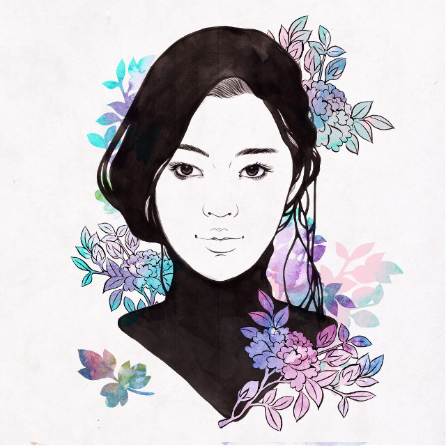 #illustration #illust #drawing #watercolor #fashionillustration #flower #portrait #artwork