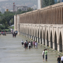 iran esfahan river zayanderud عکس