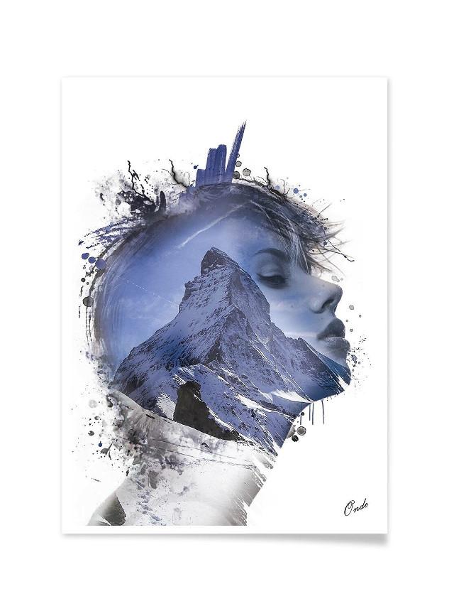 #art #california  #dream #photography #people #women #portrait #decoration #snow #doubleexposure #moutain