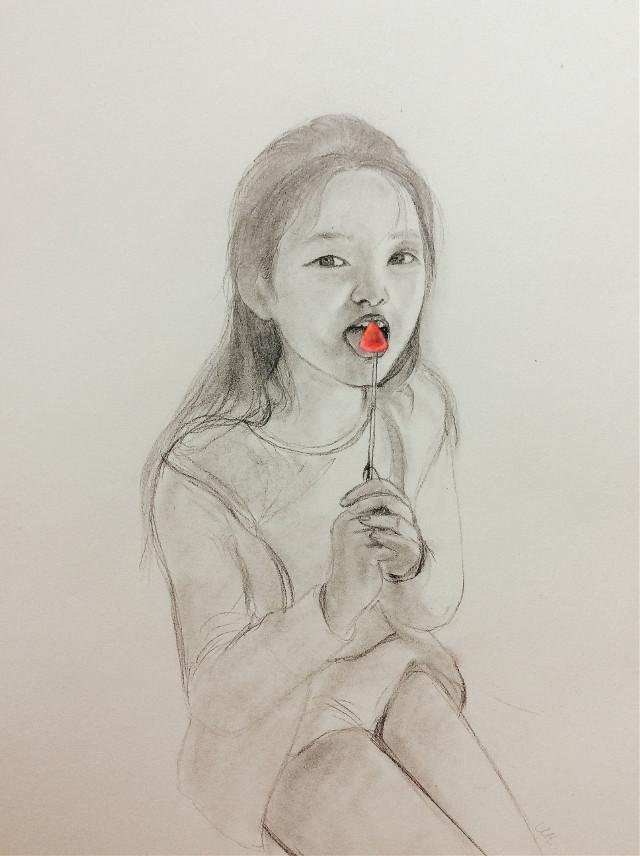#drawing #lollipop #girl #art