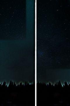 diptych fattaleffect stars night interesting