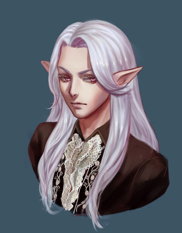 Headshot commission for Hallowrook on DA~ Their Final Fantasy XIV OC Evariste Baudhuin ^_^ He's so handsome <3 lol I dont know much about the game but it looks very epic!  #anime #drawing #commission #finalfantasy #art #headshot #painting #illustration